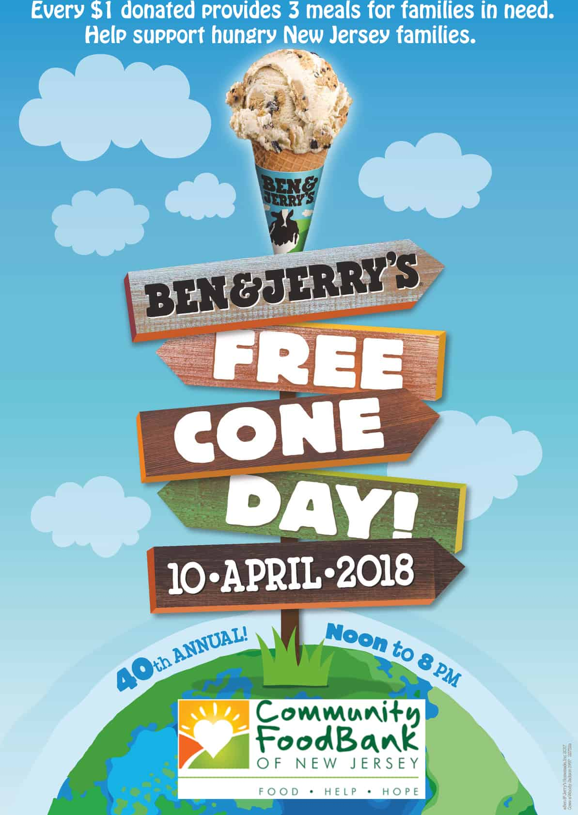 free cone day ben and jerrys 2018