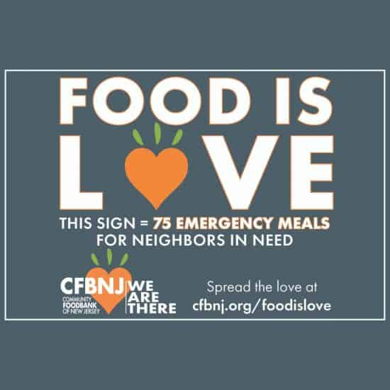 Food Is Love lawn sign design