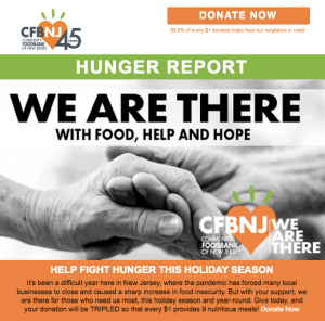 Hunger report screenshot