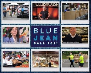 Collage of photos from virtual Blue Jean Ball