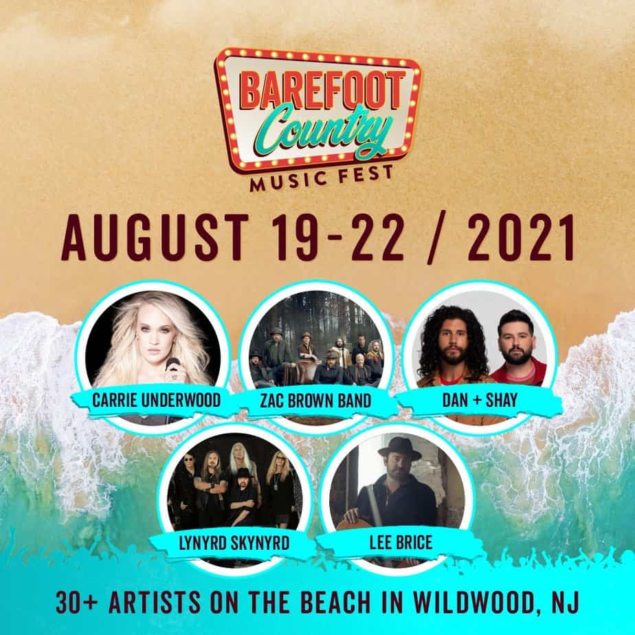 Barefoot COuntry Music Fest headliners